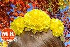 Цветы из атласной ленты 2.5 см своими
