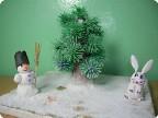 Елка заяц снеговик