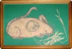 Сказка про Мышку с Зонтиком или волшебный Зонтик, поделка-иллюстрация, поделка «Мышиный король», поделка «Мышка с колосками»