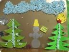 Снеговик и ёлки