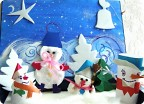семейство  снеговиков