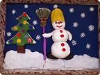 Снеговик у ёлочки