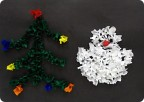 Ёлочка и снеговичок (торцевание)