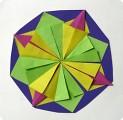 Снежинка из модулей оригами-2.