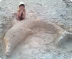 Летняя скульптура из песка