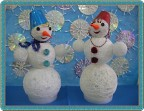 Снеговик и Снежанна.