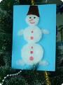 Пушистый снеговичок