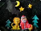 Дед  Мороз  и  львёнок.