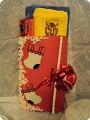 Новогодняя открытка-упаковка для подарка