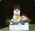"""Подарок папе """"Снеговичок и Дед Мороз"""""""