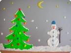 Дворник-снеговик