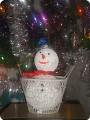 Снеговик в корзинке