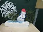 Снеговик в лесу