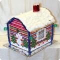 Домик деда мороза из потолочной плитки своими 71