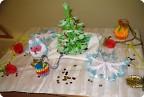 Набор новогодних украшений в технике модульного оригами