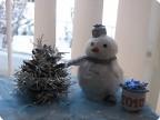 снеговик как символ наступившей зимы