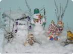Мама и сыночек- снежные кружочки