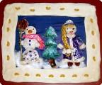 Снеговик и Снегурочка