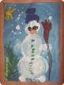 Я  весёлый  снеговик.