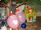 воздушные Дед Мороз и Снегурочка