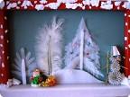 """Панно """"Снеговик с друзьями готовится к встрече Нового года"""""""