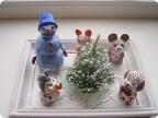 Снеговичок и его друзья из Дымково