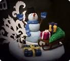 """Снеговик с подарками"""