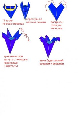 Схема для средних и внешних лилий.