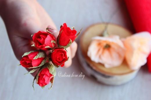 Создаем маленькие бутоны из бумаги, цветы из бумаги, алина романовна, творчество, рукоделие, свитдизайн, бутоны из бумаги, бумажная флористика