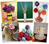 Чудесные вазы из шерсти и пряжи