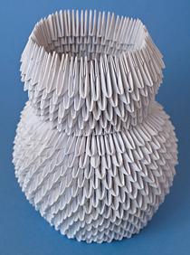 Снеговик из треугольных модулей оригами к новому году / Новый год / Романтика - мир любви и романтики (картинки про любовь, реце