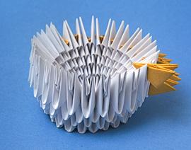 Зайчиха - модульное оригами