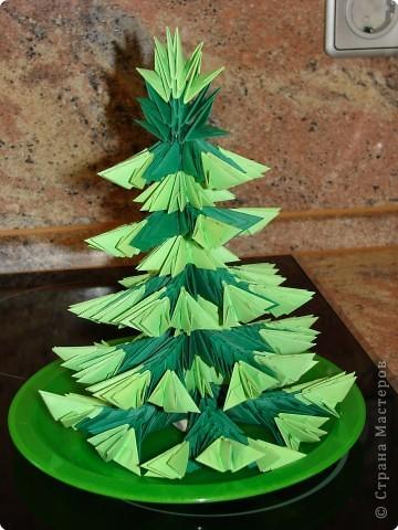 Оригами модульное: Ёлочка пушистая