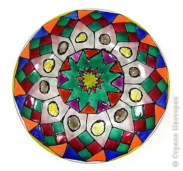 Витраж: Роспись тарелки в витражной технике