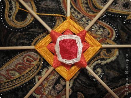 Мастер-класс Поделка изделие Плетение Радужная мандала Пряжа фото 12