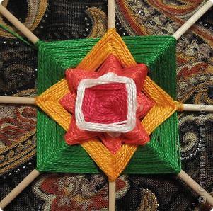 Мастер-класс Поделка изделие Плетение Радужная мандала Пряжа фото 13