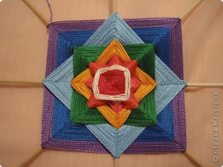 Мастер-класс Поделка изделие Плетение Радужная мандала Пряжа фото 15