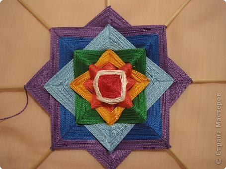 Мастер-класс Поделка изделие Плетение Радужная мандала Пряжа фото 16