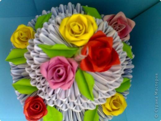 Оригами модульное: Торт фото 2