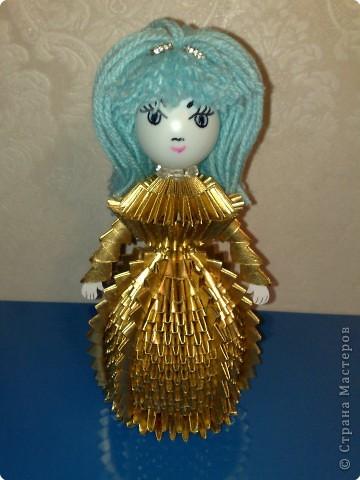 Оригами модульное: Золотая девочка. фото 1