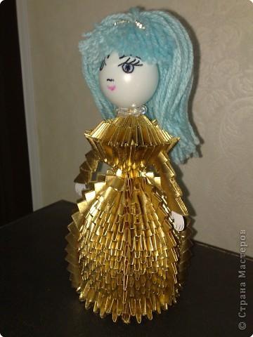 Оригами модульное: Золотая девочка. фото 2