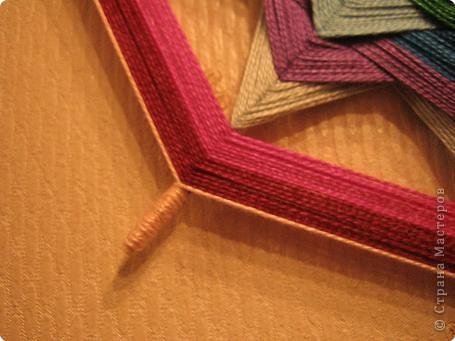 Мастер-класс Поделка изделие Плетение Радужная мандала Пряжа фото 19