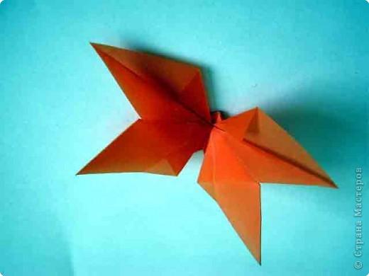 """Для выполнения декора на окно самое главное правильно выбрать бумагу. Она должна быть полупрозрачная. Прикрепляли детали с помощью «липучки» (плакатный клей).  Для своей работы мы использовали бабочки, выполненные в технике оригами. Базовая форма """"Двойной треугольник""""  фото 7"""