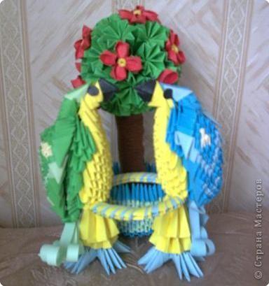 Оригами модульное: Попугайчики) фото 1