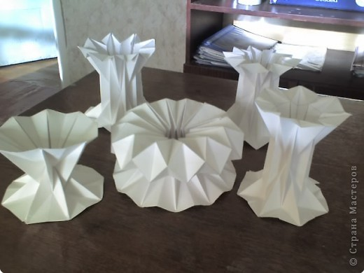 Бумагопластика: вазочки фото 3