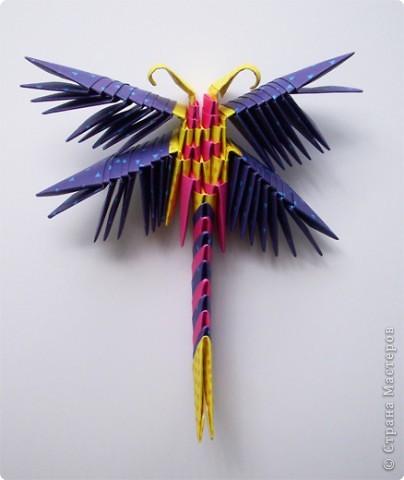 Оригами модульное: Стрекоза фото 2