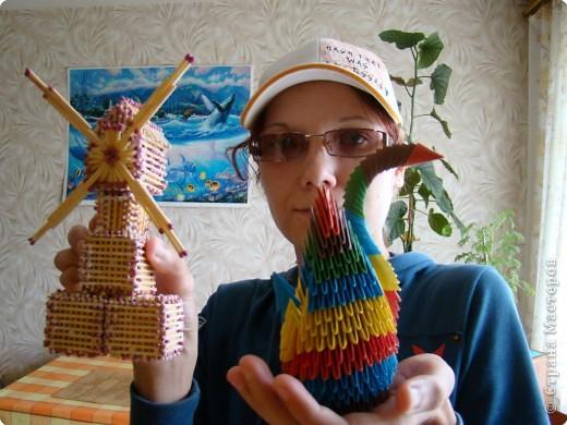 Поделки из модулей лебедь - Оригами