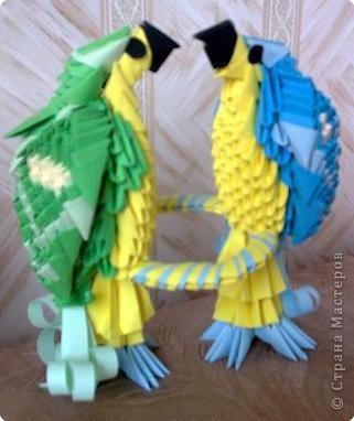 Оригами модульное: Попугайчики) фото 2