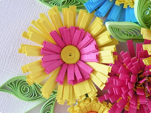 Квиллинг: Корзина с цветами фото 4