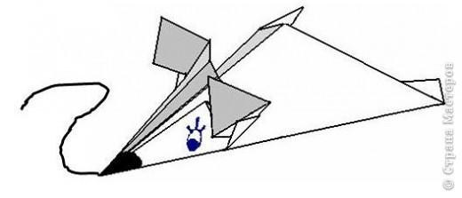 Оригами: Мышка-подкрадушка